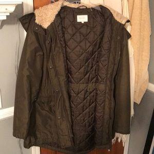 Olive Green Winter Coat